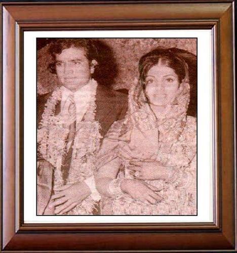 Super étoile, star Rajesh Khanna & Dimple Kapadia wedding on 23.3.1973