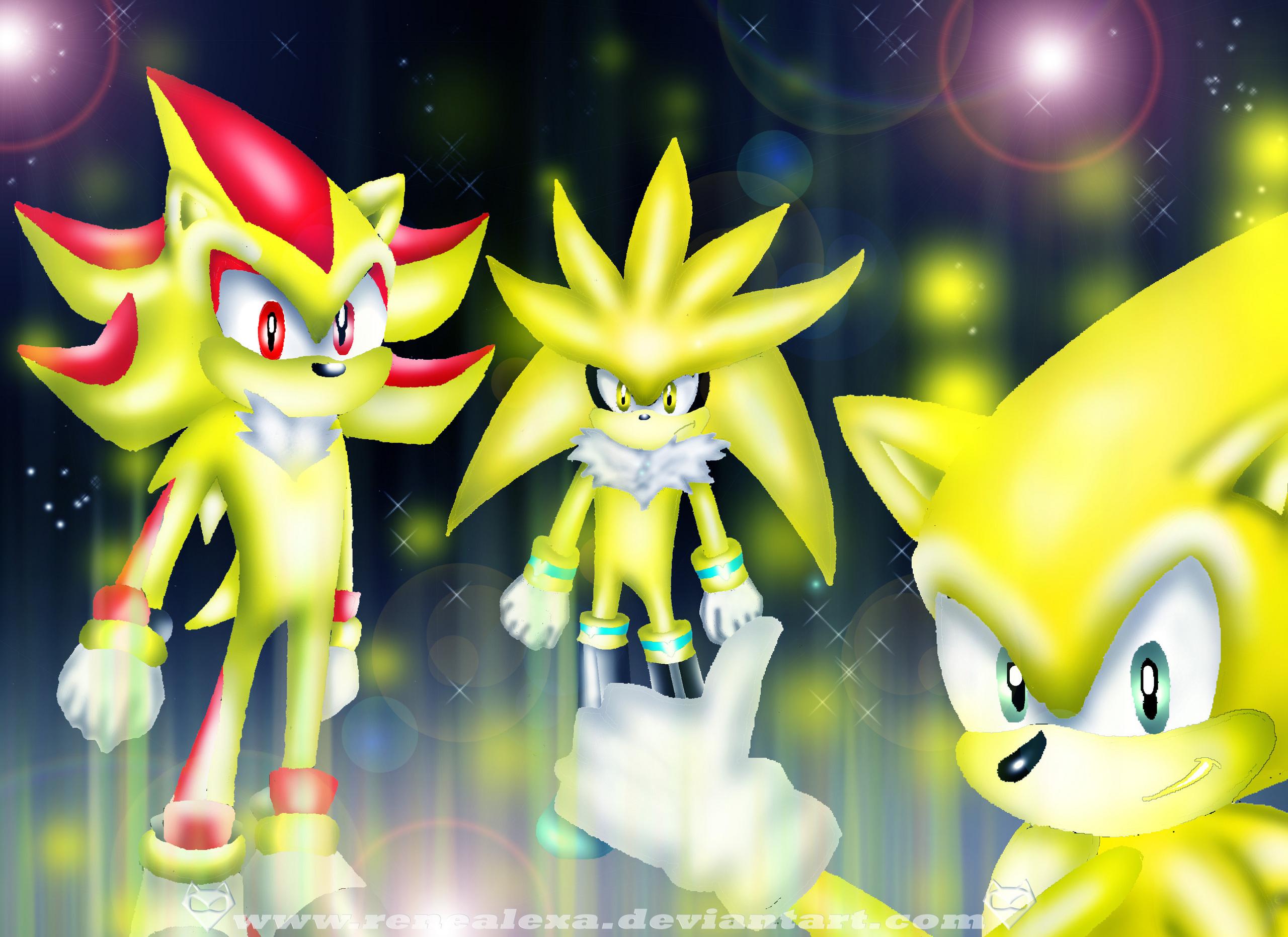The three Super Hedgehog's - Sonic the Hedgehog Photo ...