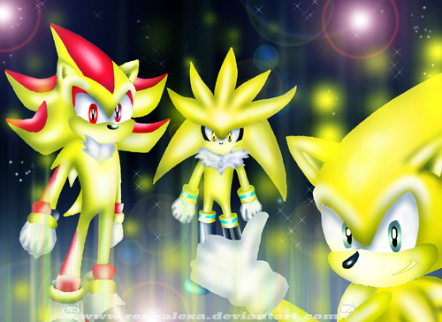 The three Super Hedgehog's