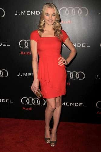 Yvonne Strahovski @ the 'Audi & J Mendel Celebrate the 2011 Golden Globe Awards' Event