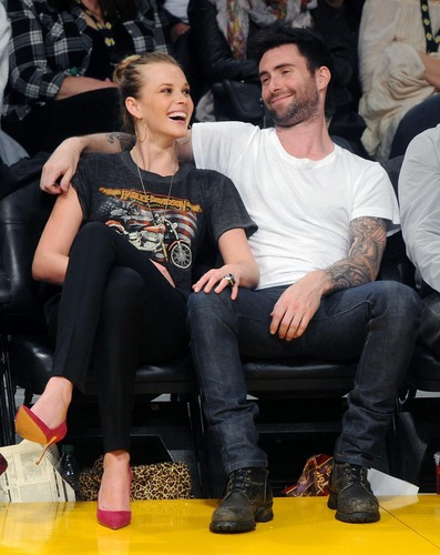 Adam Levine wallpaper containing a couch titled adam and anne v