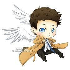 Castiel wallpaper possibly with anime called cas