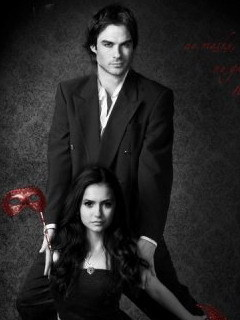 Ian Somerhalder and Nina Dobrev wallpaper containing a business suit called cute ones