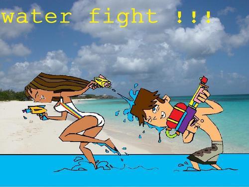 luluxcody waterfight