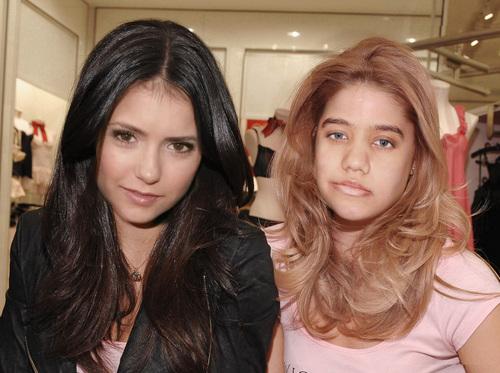 nina dobrev with friend