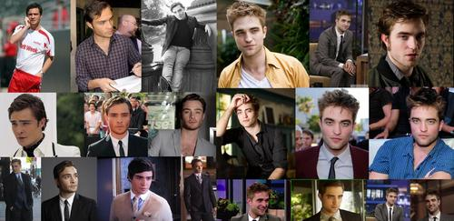 Robert Pattinson vs Ed Westwick fondo de pantalla possibly containing a business suit titled pattinson & westwick
