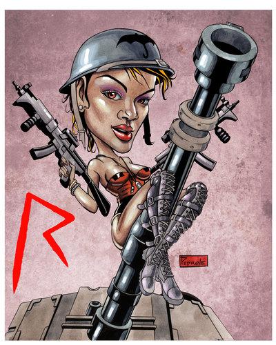 রিহানা caricature
