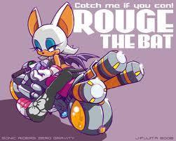 rouge the bat at the bike