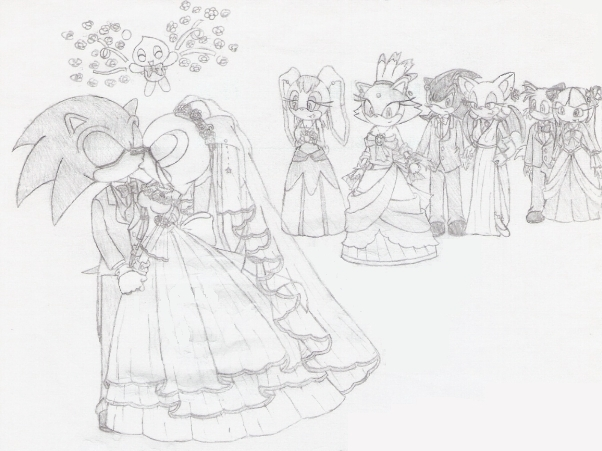 sonic and cream getting married