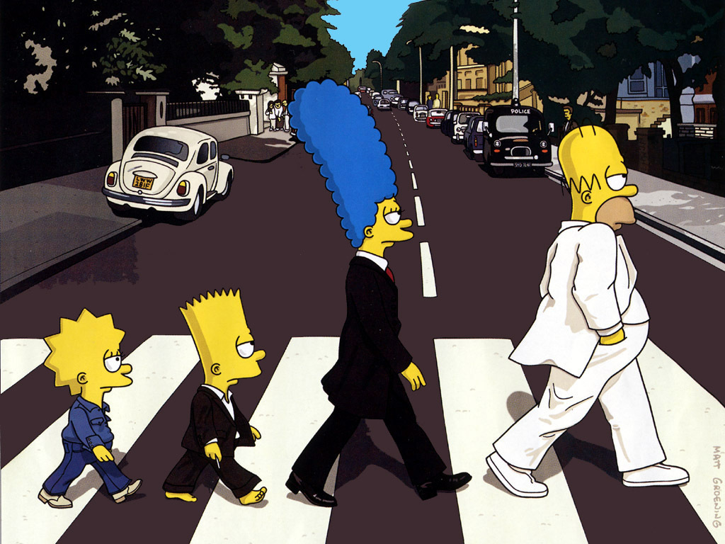 the Simpsons Abbey Road