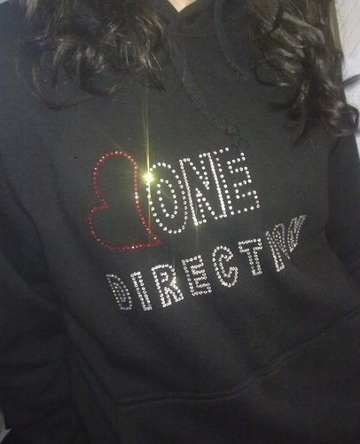 1D = Heartthrobs (1D Hoodie Crystalized Wiv Studs! Bling Bling) 100% Real :) x