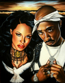 Aaliyah & 2Pac - tupac-shakur photo