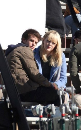 Andrew & Emma onset of SPIDERMAN!!