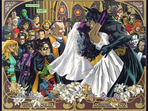 cine fondo de pantalla titled batman and Catwoman get married