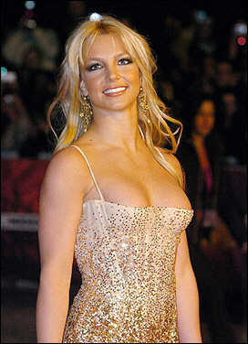 Britney at NRJ Music Award Januar 2004,France