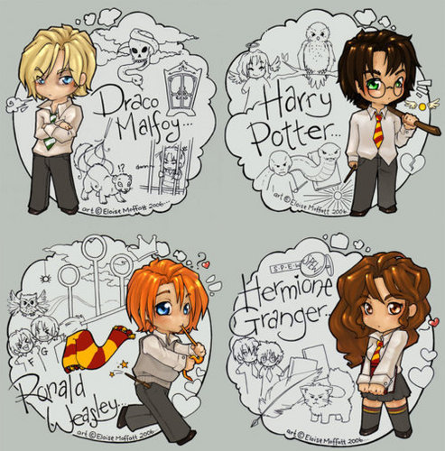 Harry Potter Vs. Twilight wolpeyper with anime entitled Chibi HP
