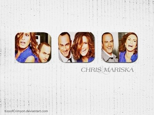 Chris and Mariska