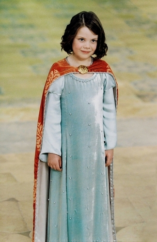 Lucy Pevensie wallpaper probably containing a kirtle called Coronation Scene