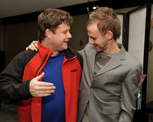 Dominic Monaghan and Sean Astin attend Access Hollywood- january 2011