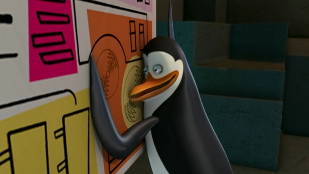 Epic Kowalski Expression - Penguins of Madagascar Photo