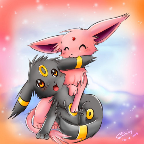 Espeon and Umbreon