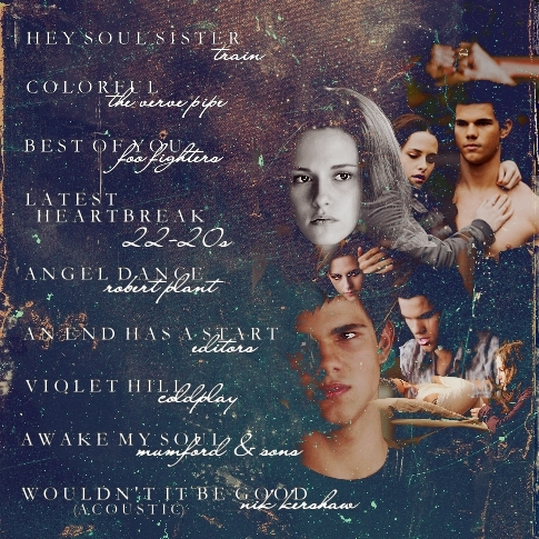 Jacob and Bella wallpaper possibly with a sign called Fanart