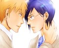 Ichigo and Uryu - bleach-yaoi fan art