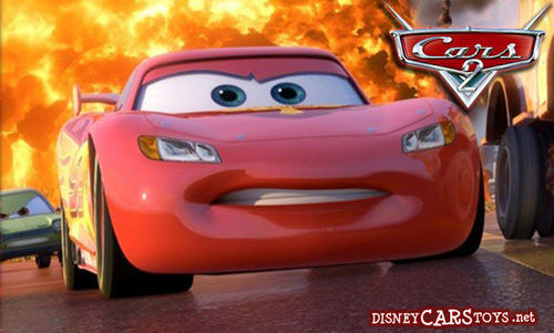 Disney Pixar Cars 2 wallpaper probably with a coupe titled Ka-Chow!!!