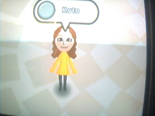 Kate as a Mii