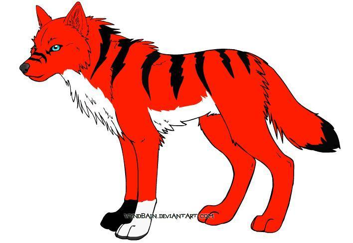Kibagrl's warrior Wildfire wolfform