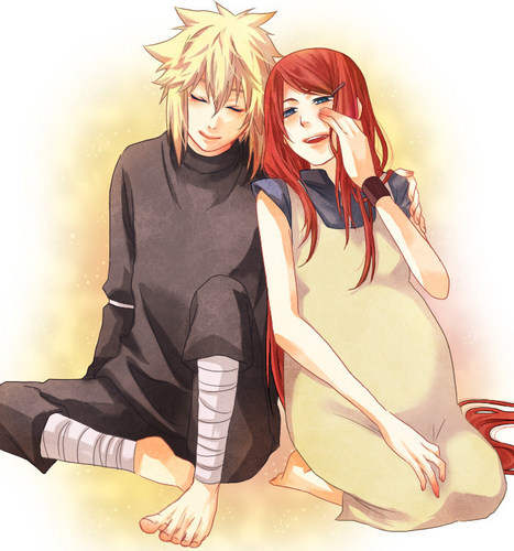 Kushina Uzumaki wolpeyper probably containing anime titled Kushina and Minato
