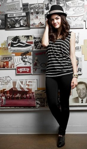Lucy Hale wallpaper titled Lucy Hale Vans Girl Photoshoot