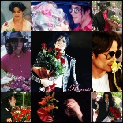 Michael Jackson loves flowers