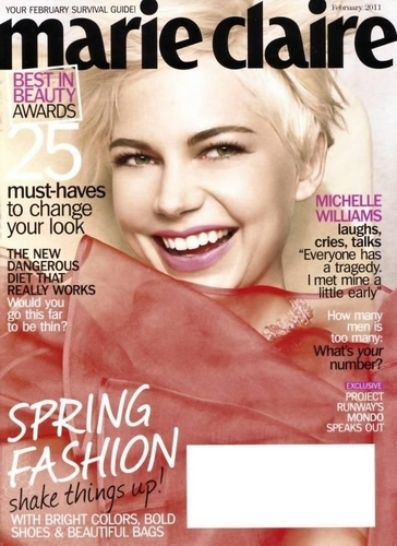 "Michelle Williams wallpaper possibly with a portrait titled Michelle Williams for ""Marie Claire"" (2011)"