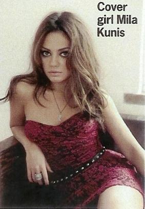 Mila Kunis Hintergrund with attractiveness titled Mila