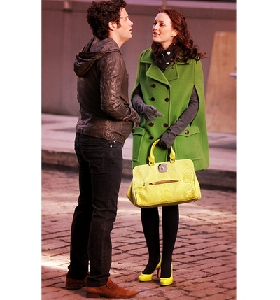 Dan and Blair wallpaper with a well dressed person, an outerwear, and a box coat titled Penn/Leighton