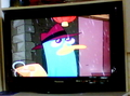 Perry on my TV :D - perry-the-platypus fan art