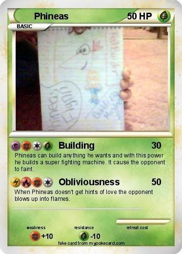 Phineas Pokemon Card