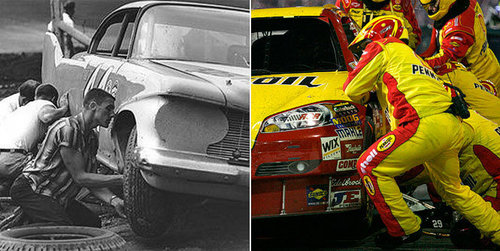 Pit Crew Changes Over Time