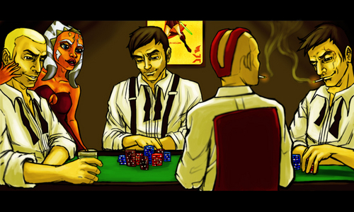 Poker game with the clones