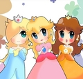 Princess Peach,Daisy and Rosalina
