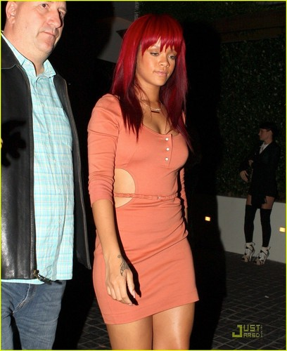 Rihanna out in Beverly Hills
