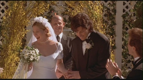 Movie Couples Wallpaper Probably With A Bridesmaid And Business Suit Entitled Robbie Julia In The Wedding Singer