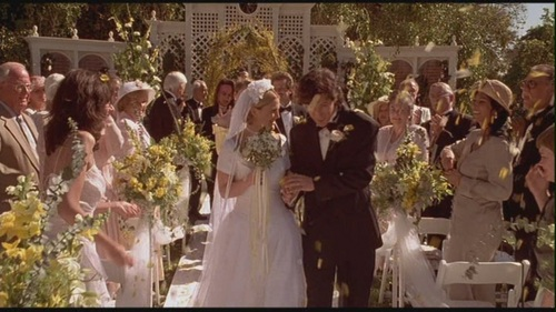 Movie Couples Wallpaper With A Bridesmaid Titled Robbie Julia In The Wedding Singer