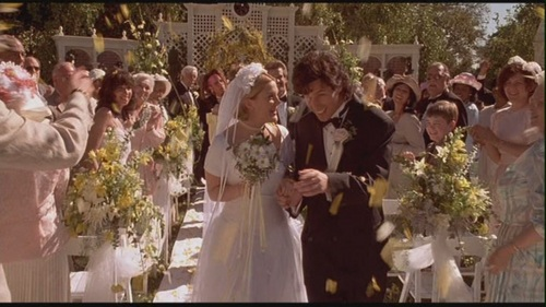 Movie Couples Wallpaper With A Bridesmaid Entitled Robbie Julia In The Wedding Singer