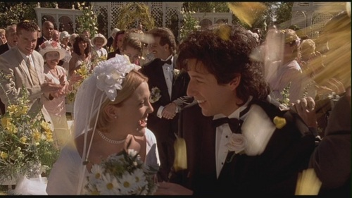 Movie Couples Wallpaper Possibly With A Bridesmaid Titled Robbie Julia In The Wedding Singer