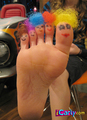 Sam's foot with afros - samantha-puckett photo