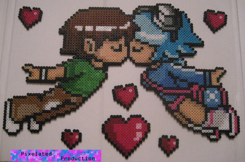 Scott Pilgrim Original Bead Art سے طرف کی Pixelated Production
