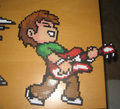 Scott Pilgrim Original Bead Art sa pamamagitan ng Pixelated Production