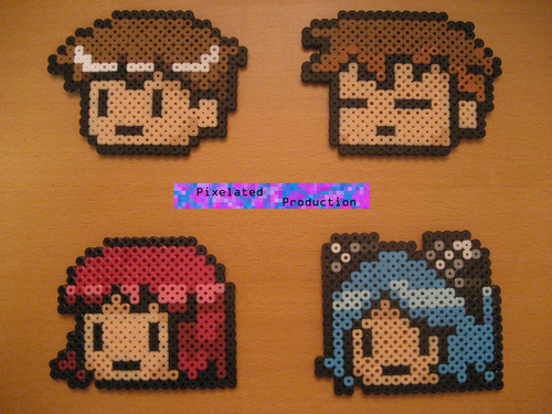 Scott Pilgrim Original Bead Art sejak PixelatedProduction